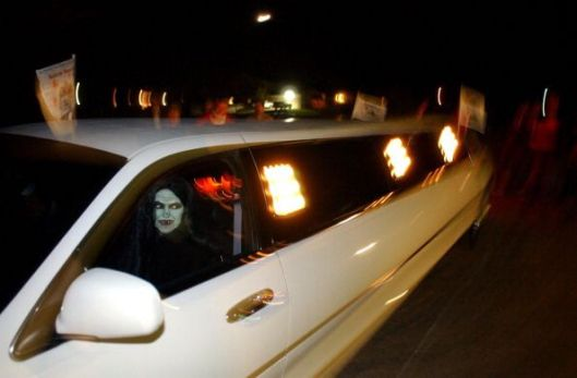 Halloween Prowling in a Limousine